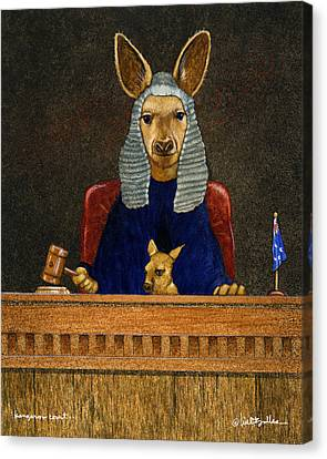 Kangaroo Court... Canvas Print by Will Bullas