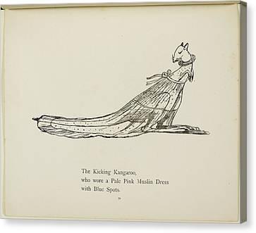 Kangaroo Wearing A Dress Canvas Print by British Library