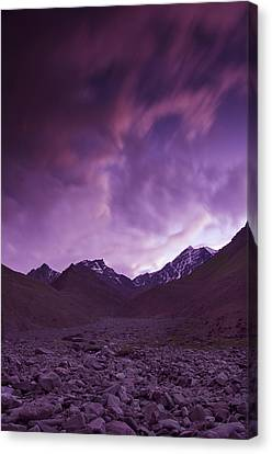 Kangri Twilight Canvas Print by Aaron S Bedell