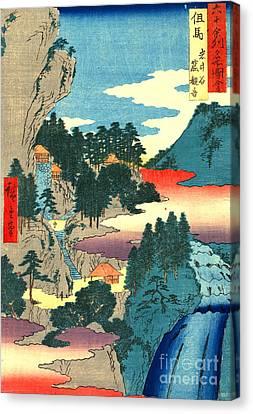 Kannon Temple Tajima Province 1854 Canvas Print by Padre Art
