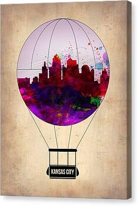 Kansas City Air Balloon Canvas Print by Naxart Studio