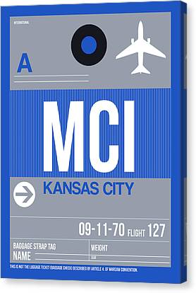 Kansas City Airport Poster 2 Canvas Print by Naxart Studio