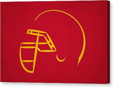 Kansas City Chiefs Helmet Canvas Print by Joe Hamilton