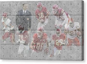 Kansas City Chiefs Legends Canvas Print by Joe Hamilton