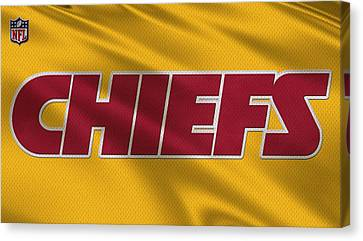 Kansas City Chiefs Uniforms Canvas Print by Joe Hamilton