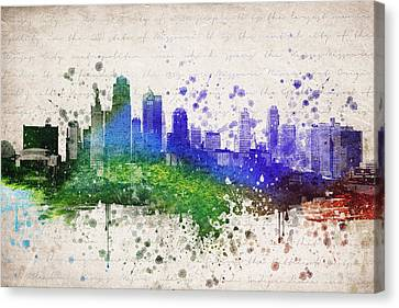 Kansas City In Color Canvas Print by Aged Pixel
