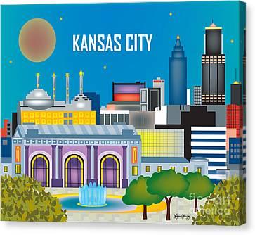 Kansas City Canvas Print by Karen Young