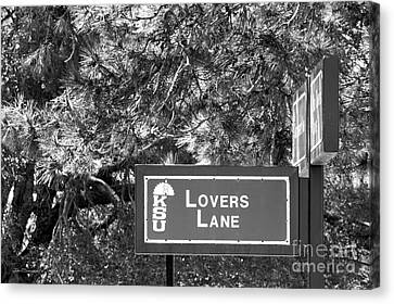 Kansas State University Lovers Lane Canvas Print by University Icons