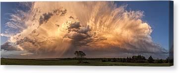 Kansas Storm Cloud Canvas Print by Scott Bean