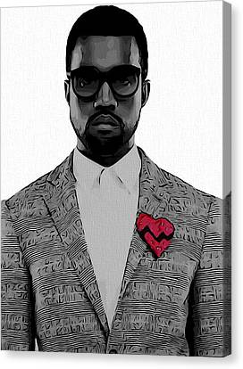 Kanye West  Canvas Print by Dan Sproul