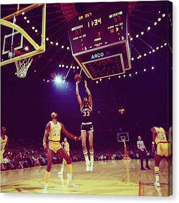 Kareem Jump Shot Canvas Print by Retro Images Archive