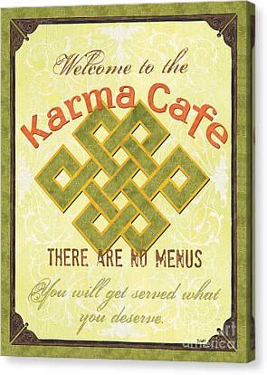 Karma Cafe Canvas Print by Debbie DeWitt