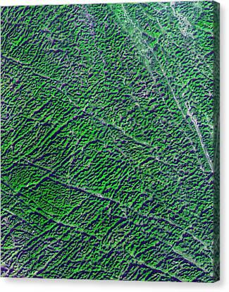 Karst Landscape Canvas Print by Nasa/gsfc/meti/ersdac/jaros, Us-japan Aster Science Team