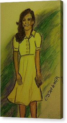 Kate Middleton Canvas Print by Christy Saunders Church