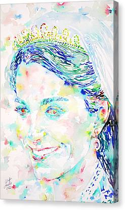 Kate Middleton Portrait.2 Canvas Print by Fabrizio Cassetta
