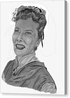 Kate Canvas Print by Tobi Czumak