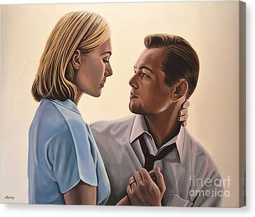Kate Winslet And Leonardo Dicaprio Canvas Print by Paul Meijering