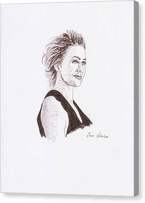 Kate Winslet Canvas Print by M Valeriano