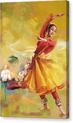 Kathak Dance Canvas Print by Catf