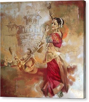 Kathak Dancer 8 Canvas Print by Corporate Art Task Force