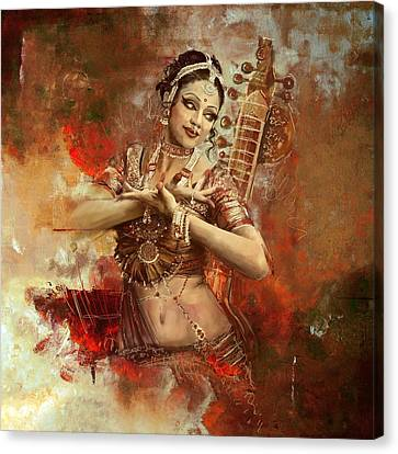Kathak Dancer Canvas Print by Corporate Art Task Force
