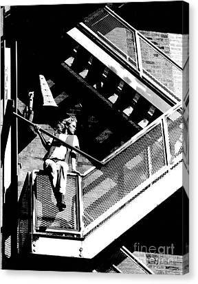 Katie-fire Escape Canvas Print by Gary Gingrich Galleries