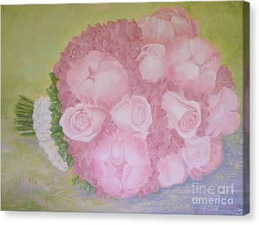 Katie's Wedding Bouquet Canvas Print by Paul Galante