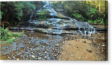 Katoomba Cascades Panorama Canvas Print by Terry Everson