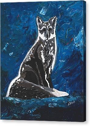 Kat's Fox Canvas Print by Donna Mann