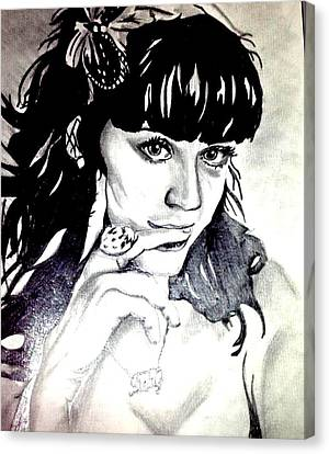 Katy Perry Canvas Print by Pauline Murphy