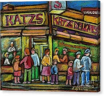 Katz's Deli Canvas Print by Carole Spandau