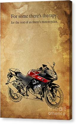 Kawasaki Quote Canvas Print by Pablo Franchi