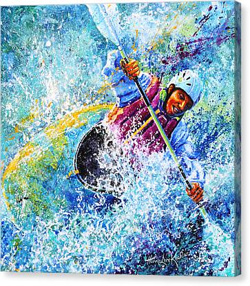 Kayak Crush Canvas Print by Hanne Lore Koehler