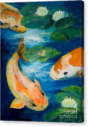 Kay's Koi Canvas Print by Larry Martin