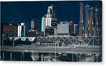 Kc At Dusk Canvas Print by Patricio Lazen