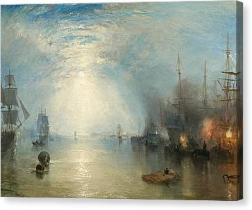 Keelmen Heaving In Coals By Moonlight Canvas Print by Joseph Mallord William Turner