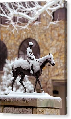 Keeneland In Winter Canvas Print by Sid Webb