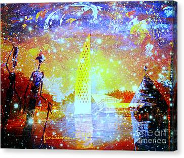Keep The Slave Monument In Goree Clean Canvas Print by Fania Simon
