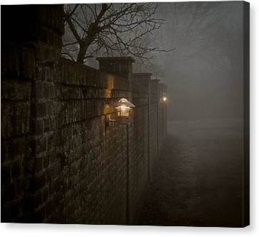 Keep Your Back To The Wall Canvas Print by Odd Jeppesen