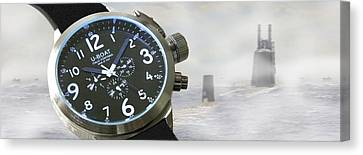 Keep Your Eyes On The U Boat Canvas Print by Mike McGlothlen