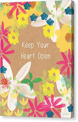 Keep Your Heart Open Canvas Print by Linda Woods
