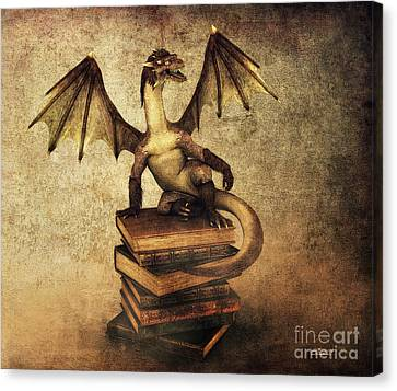 Keeper Of Wisdom Canvas Print by Jutta Maria Pusl