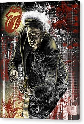 Keith Canvas Print by Gary Kroman