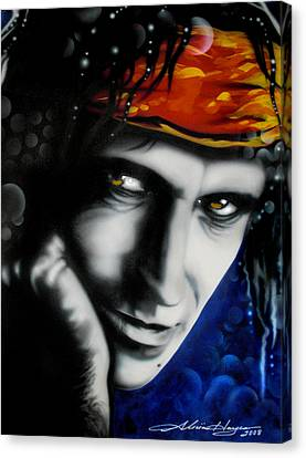 Keith Richards Canvas Print by Alicia Hayes