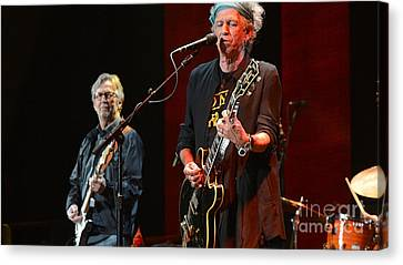 Keith Richards And Eric Clapton Canvas Print by Marvin Blaine