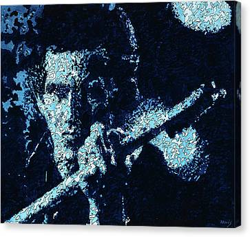 Keith Richards Canvas Print by Barry Novis