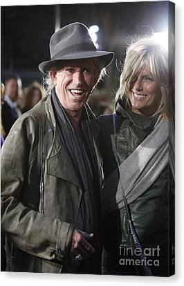 Keith Richards Canvas Print by Nina Prommer
