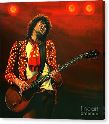 Keith Richards Painting Canvas Print by Paul Meijering