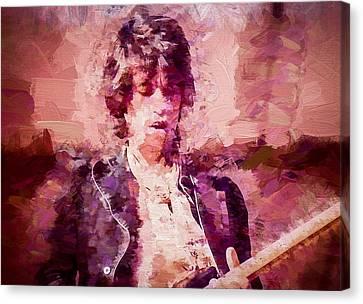 Keith Richards Canvas Print by Vivian Frerichs