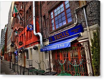 Kells Irish Restaurant And Pub - Seattle Washington Canvas Print by David Patterson